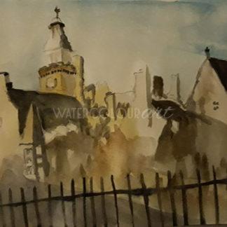 Watercolour painting from Edinburgh, Scotland