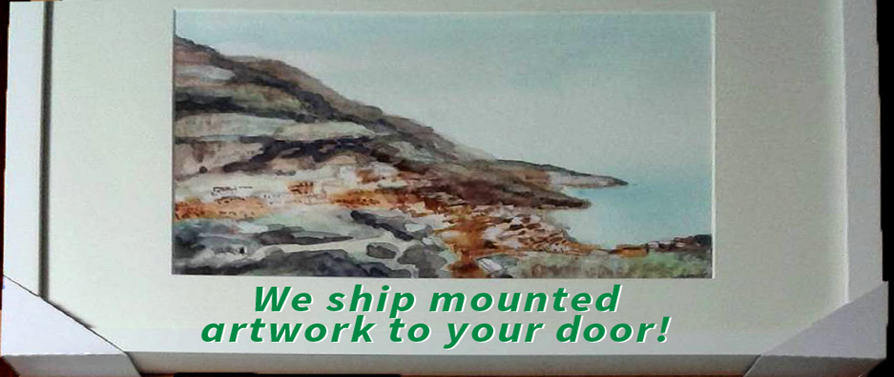 Mounted artwork shipped to your door