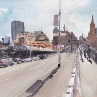 Watercolour painting of Princes Bridge