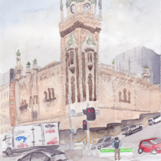 Watercolour painting of Forum Cinema