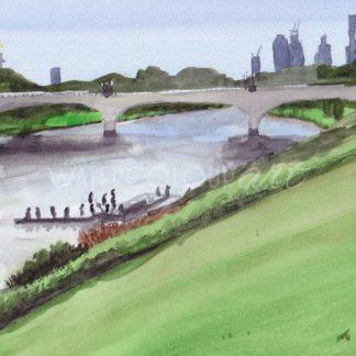 Watercolour painting of Anderson Street Bridge