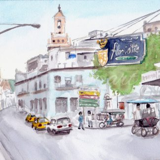 Watercolour painting of Floridita, Havana, Cuba