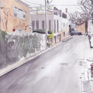 Watercolour painting of St Martins Lane