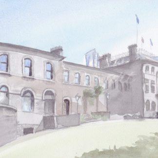 Watercolour painting of Victoria Barracks Museum