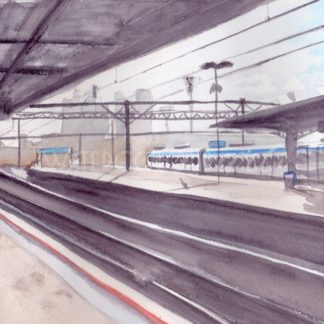 Watercolour painting of Richmond Train Station