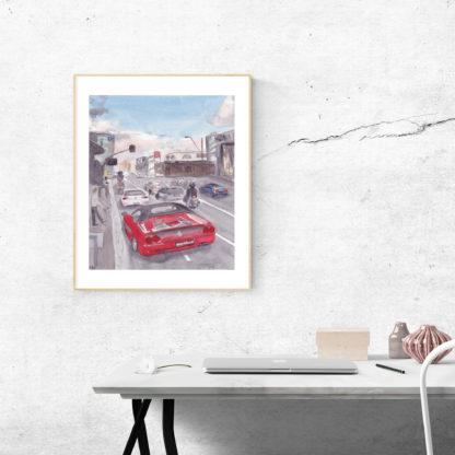 Ferrari Convertible Desk Frame