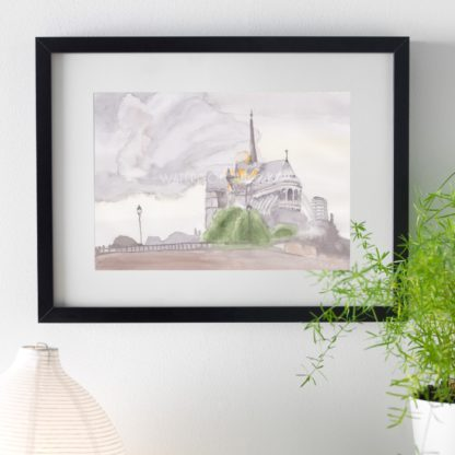 Fire Of Notre Dame Ribba Frame2