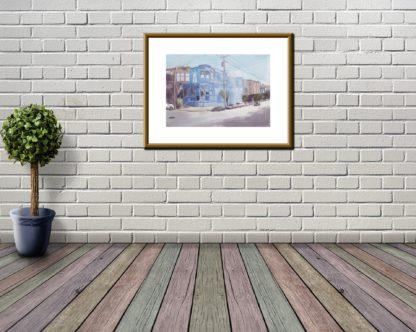 Blue House White Brick