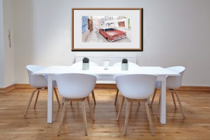 Red Car White Roof Table Chairs