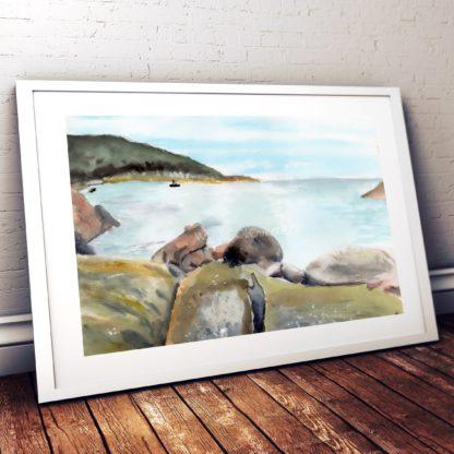 Sleepy Bay Studio Photo Frame White
