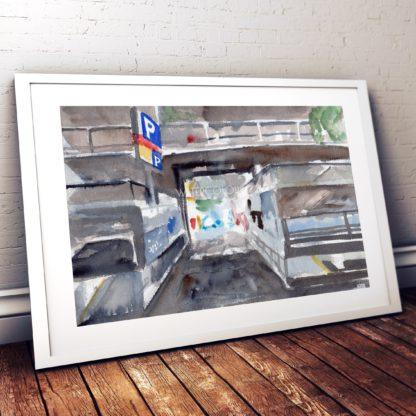 Car Park Studio Photo Frame White