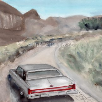 Driving Into The Unknown Desert Landscape Painting