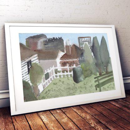 La Trobes Cottage Studio Photo Frame White