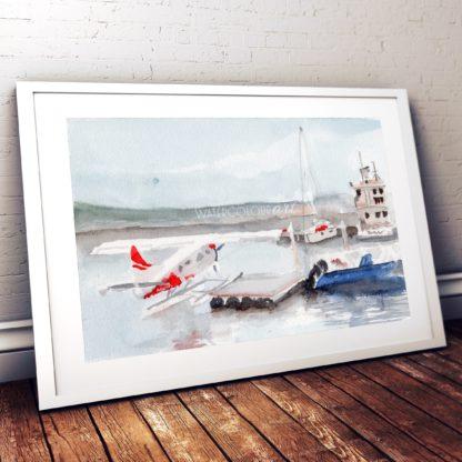 Seaplane Studio Photo Frame White
