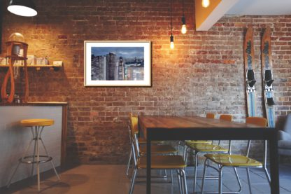 Tokyo From Above Brick Wall Table