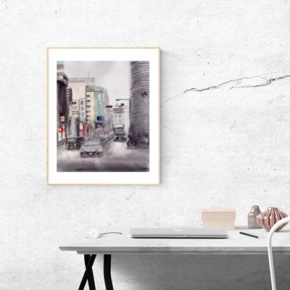 Tokyo Street Scene Desk Frame
