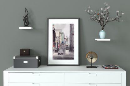 Tokyo Street Scene Frame Dresser